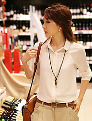 Women's Tops & Blouses , Cotton Blend Casual QSYR
