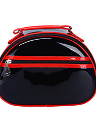 H1407 BLACK RED Velvet top zipper cosmetic Case make up bag FREE SHIPPING DROPSHIPPING WHOLESALE