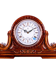 "18""Retro Brown Type Analog Tabletop Clock"