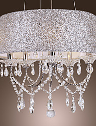 60 Chandelier ,  Modern/Contemporary Drum Electroplated Feature for Crystal Metal Living Room Bedroom Dining Room