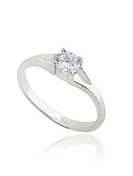 KU NIU Women's Gold Plating Zircon Ring J27022
