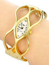 Damen Quartz Band Armreif Gold Marke-