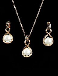 Jewelry Set Women's Anniversary / Birthday / Gift / Party / Special Occasion Jewelry Sets Alloy Imitation Pearl Necklaces / Earrings Gold