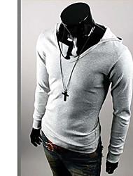 Ürün мужская мода балахон с длинным рукавом (серый)