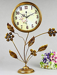 "25""Country Type Metal Analog Tabletop Clock"
