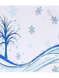 Motif de neige bleu personnalisé papier pétale Cônes - Ensemble de 12