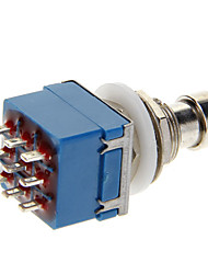 SW-3PDT No Lock 9-Pin Foot Switch (AC 250V / 2A)