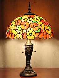Table Lamp, 2 Light, Dainty Tiffany Resin Glass Painting