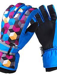 Aire libre Unsiex patrón puntos Guantes Polyester + Fleece Esquí