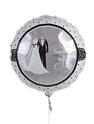 mariage décor bille métallique ballon - robe