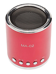 45mm Drives Unit Mini Metal Sphere TF/USB Speaker with AU and USB to Mini USB Cable (43cm,Assorted Colors)