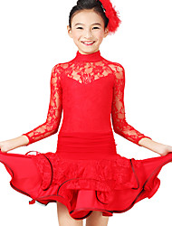 Dancewear Viscose And Lace Dance Dress For Children(More Colors)