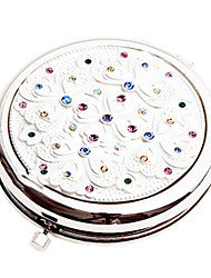 "2.5 ""Round draagbare make-up spiegel met Diamond"