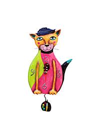 """10.5 """"H Doux Cat Polyrésine Horloge murale"""