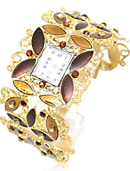 Women's Trend Rhinestone Alloy Style Analog Quartz Bracelet Watch