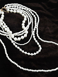 Jewelry Strands Necklaces Party / Daily Pearl Women White Wedding Gifts