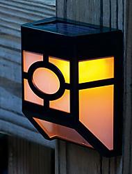 2-LED ad Energia Solare per montaggio a parete lanterna Deck luce della lampada