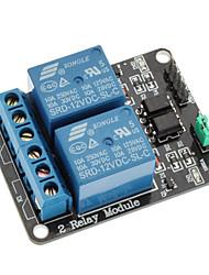 Низкий уровень триггера модуль реле 2 канала 12v для (для Arduino) (работает с официальным (для Arduino) плат)