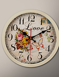 "12 ""H Rose Schilderij Wall Clock"