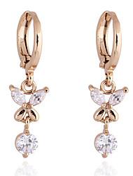 KU NIU Women's Gold Plating Zircon Long 2.5Cm Earring Er0091