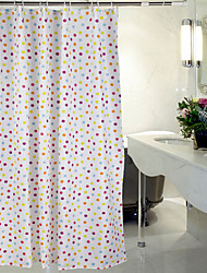 Shower Curtain Polyester Polka Dots Water-resistant Thick Fabric-2 Sizes Available