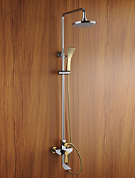 Contemporary Chrome Finish Wall Mounted Shower Faucet