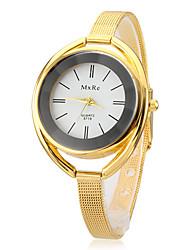Damen Modeuhr Armband-Uhr Quartz Legierung Band Elegante Silber Gold