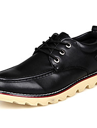GULAIDE Simple Leisure Leather Low Shoes(Black)