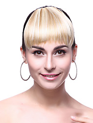 Platinum Blonde Synthetic Hair Full Bang Fringe Wigs