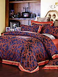 NINGHAO Silk 4Pcs Cover Set:Duvet Cover,Coverlet,Pillowcase*2_16