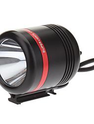 KISR 5-Mode Cree XP-E R3 LED torcia elettrica della bicicletta / faro (350LM, caricatore USB, nero + rosso)