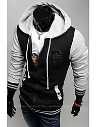 VSKA Männer Stickerei Hoodie Sweats Coat