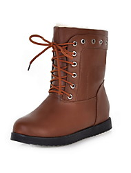 Faux Leather Platform Combat Ankle Boots (More Colors)