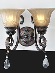 UMEI™ Wall Light, 2 Light, Classic Iron Glass Painting Processing
