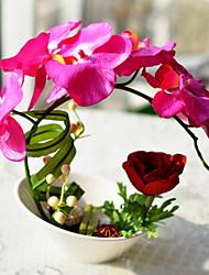 """10 """"розовые бабочки орхидеи искусственного Цветочные С белой вазе"""