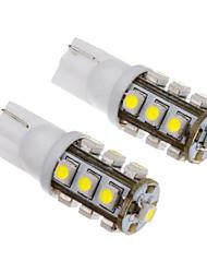 2Stk T10 13x3528SMD 50-80LM Weißlicht-LED-Lampe für Auto (12V)