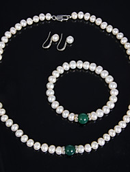 Women's Pearl Jewelry Set