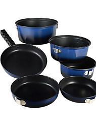 Extérieur Personnes 4-5 alliage d'aluminium de jeux de Pot (3L + 2L + Pot 1L)