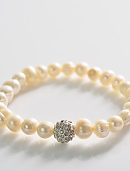 Fashion Drill Ball Pearl  Rosary Bracelet Christmas Gifts