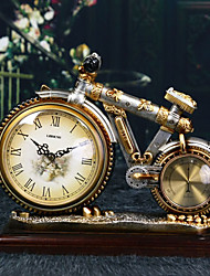 "12""Retro Type Bicycle Style Polyresin Tabletop Clock"