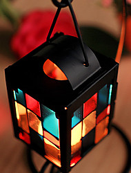 """8""""Red Mosaic Style Glass Candle Votive"""