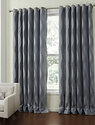 (One Pair) Mediterranean Paisley Stripe Energy Saving Curtain