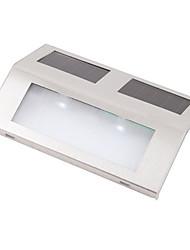 2-LED lumière blanche fraîche LED solaire extérieure escaliers Paysage Garden Path mur allume la lampe