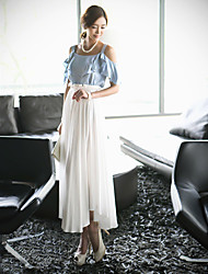 Women's Dresses , Chiffon Casual/Work Shozilan