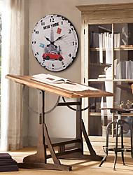 """23 """"H Yankee métal de style Horloge murale"""