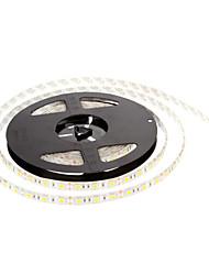 ZDM ™ водонепроницаемая 5м 60w 60x5050smd 3000-3600lm 2800-3200K теплый белый свет свет водить прокладки (DC12V)