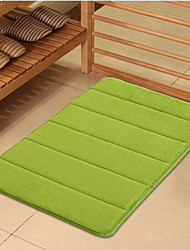 Bath Mat Memory Foam Green 20x31""
