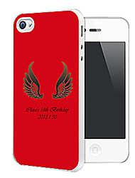 Personalized Wing Pattern Back Case for iPhone 4/4S (Assorted Color)