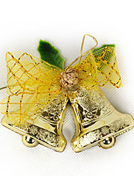 Golden Jingle Bell Style Christmas Tree Decoration Ornament