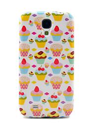 Jolie fraise Gâteaux Motif TPU Retour Housse pour Samsung Galaxy i9500 Galaxy S4
